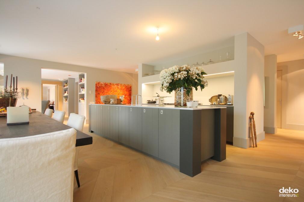 Keuken in luxe appartement maatwerk interieurbouw van deko