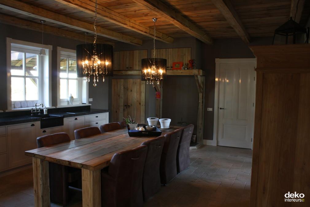 Moderne keuken in boerderij beste inspiratie voor huis ontwerp - Keuken in het oude huis ...