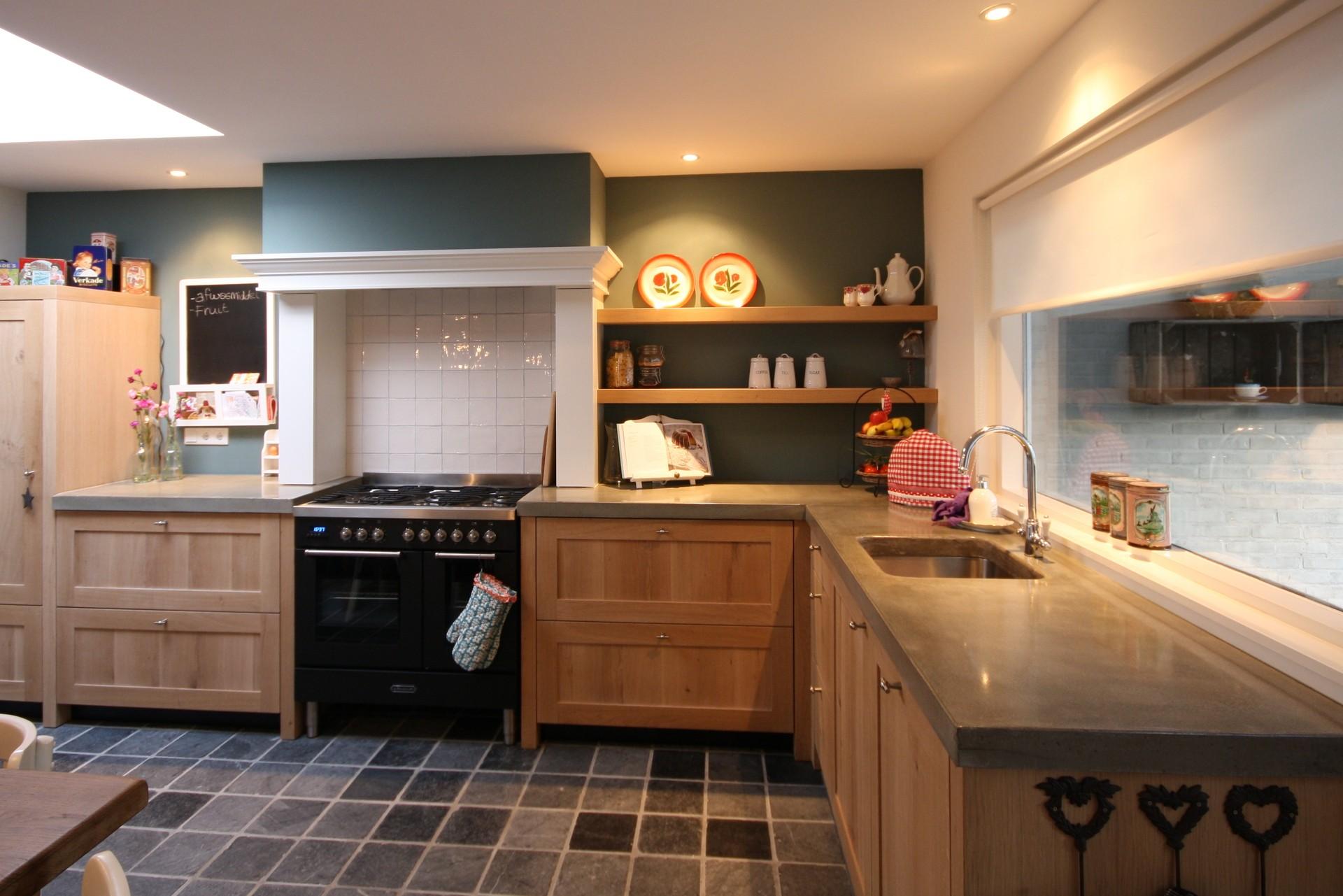 Inspiratie voor modern landelijke keukens maatwerk interieurbouw van deko - Open keukeninrichting ...